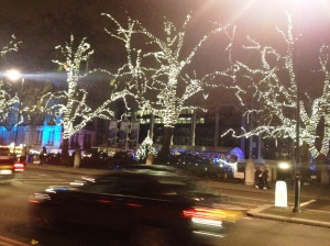 I'm terrible at night photographs, but these lights were dazzling. Christmas is truly magical in London. Where's my photographer roommate when I need him!