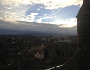 View near Edinburgh castle